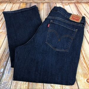 Levi's 505 Straight Dark Wash Jeans Denim Pants